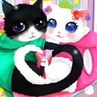 Heart Cats Dress Up